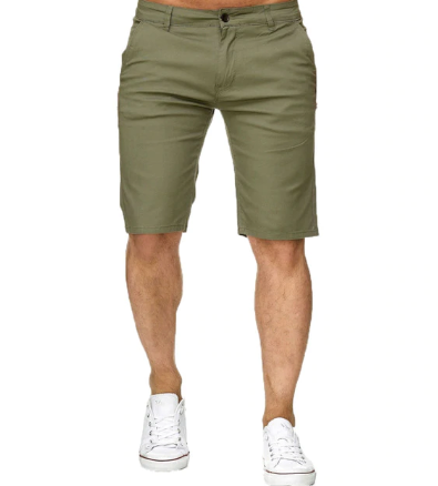 Straight Breathable Cotton Shorts