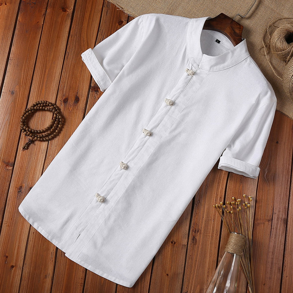 Summer Button Up Linen Shirt