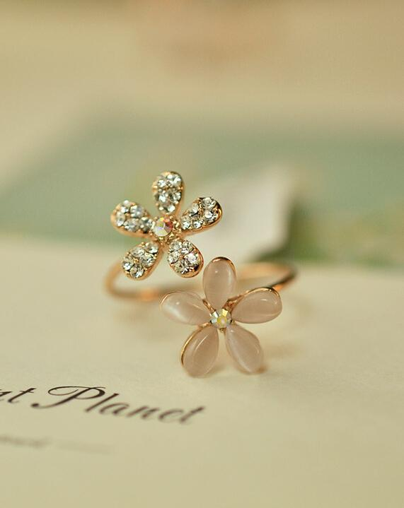 Double Daisy Ring Cute