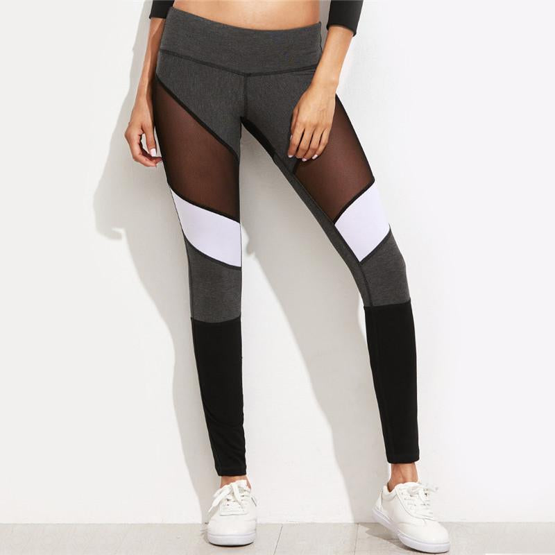 Tri-Tone Mesh Leggings