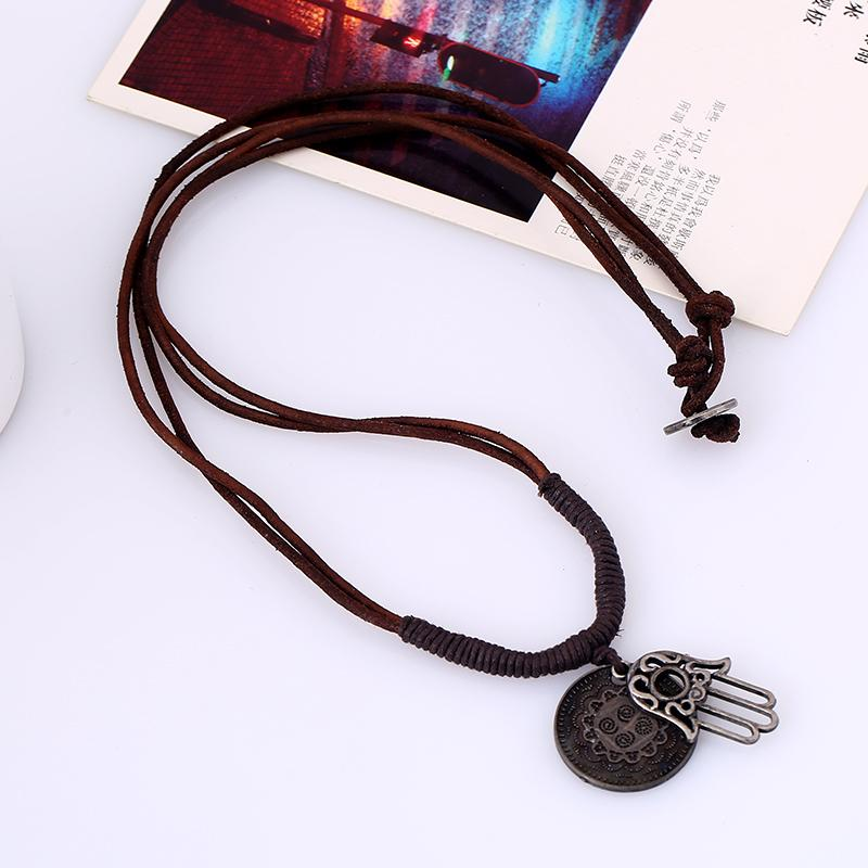 HandMade Braided  Leather Necklace
