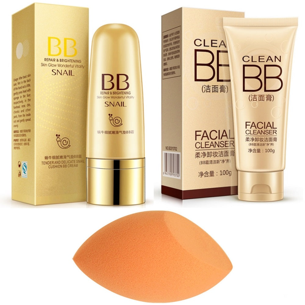 Base Makeup Set Combination Concealer Isolation Frost Liquid Foundation BB Cream