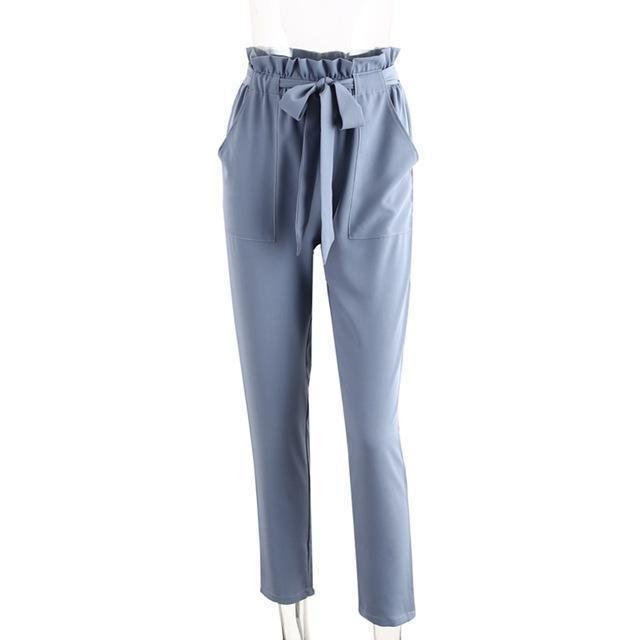 Chiffon High Waist Harem Pants Women Stringy Selvedge Summer Style Casual Pants