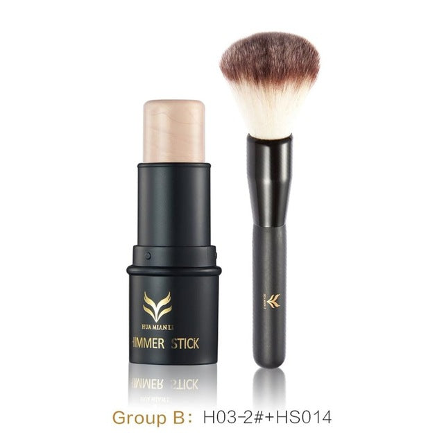 Face Foundation Makeup Set Powder Women Shimmer Makeup