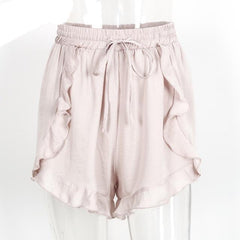 Ruffles Drawstring Shorts