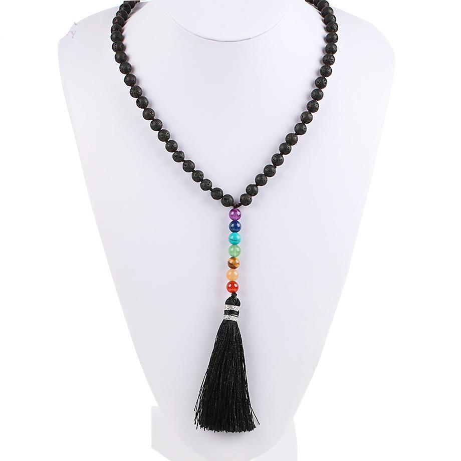 Natural Lava Beads Necklace