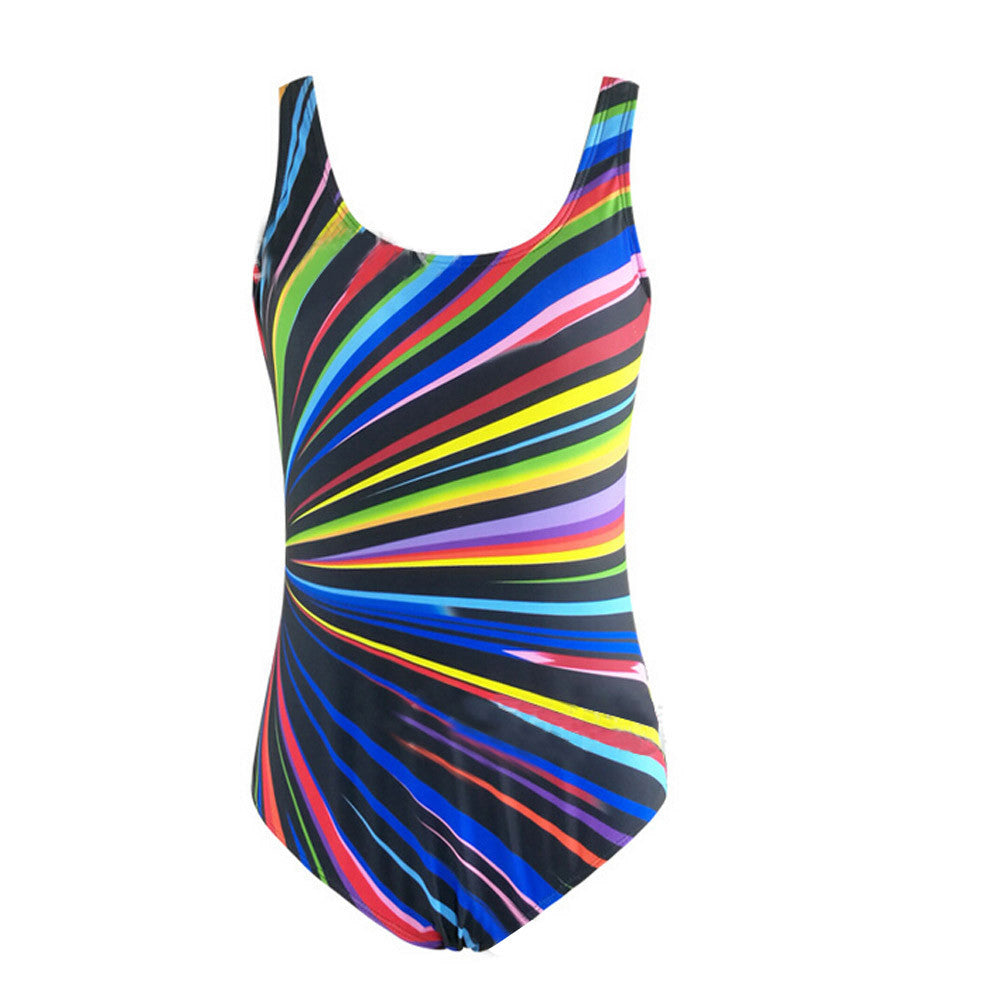 Plus Size Colorful One-Piece