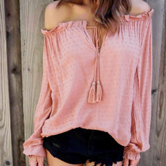 Salmon Colored Strapless Blouse