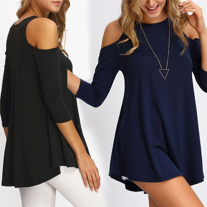 Cut Shoulder Casual Blouse