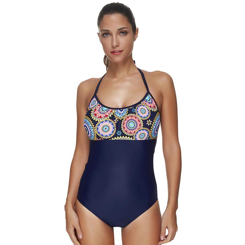 Patterned Top One-Piece Swimsuit