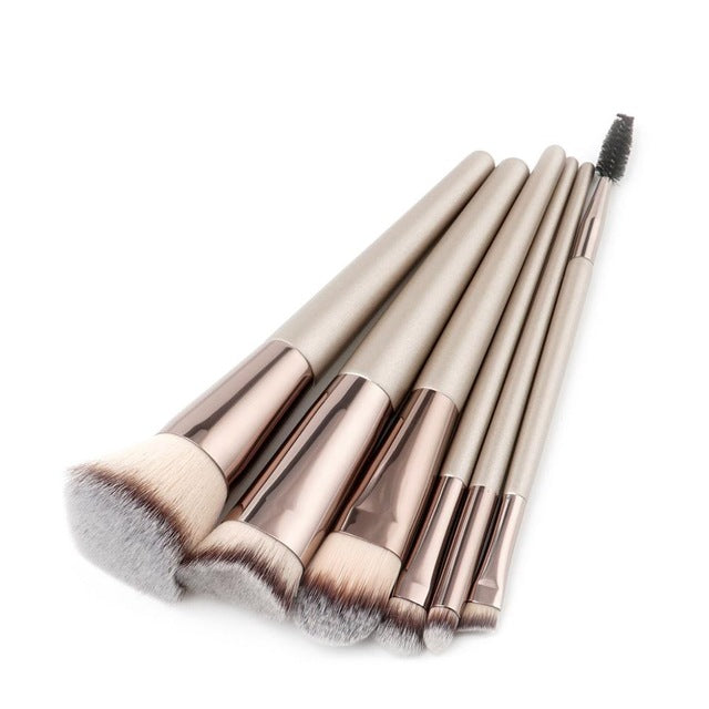 High Quality 6pcs Champagne Makeup Foundation Brushes