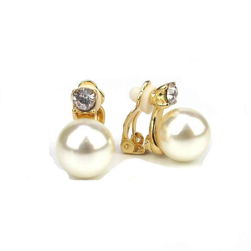 Clip  On With Pearls Clamps Earrings