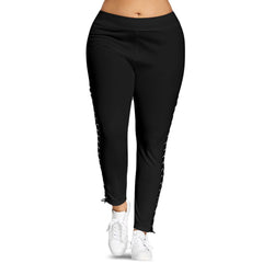Plus Size Lace Up Leggings