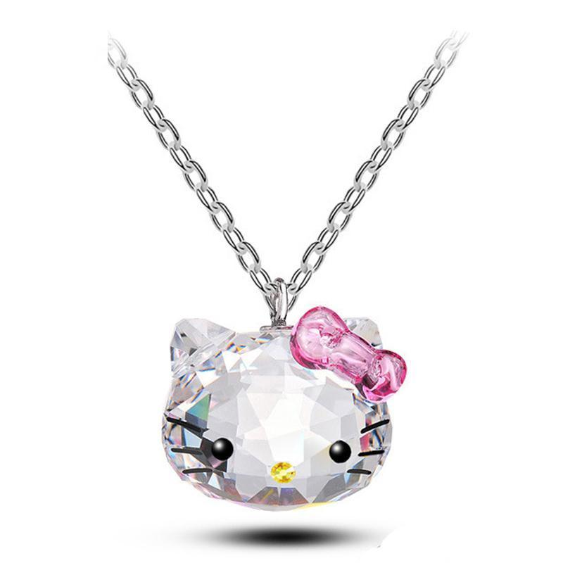 Hello Kitty Pink Crystal Necklace