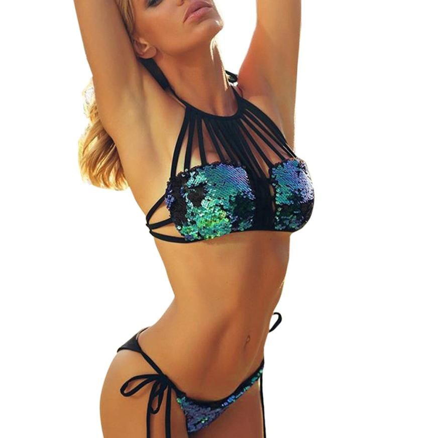 Sequined Bikini Set