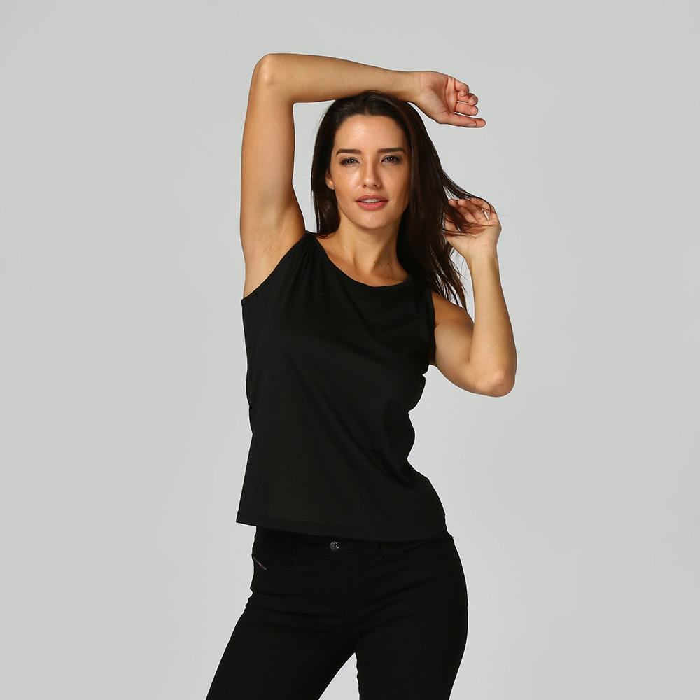 Solid Black Tank Top