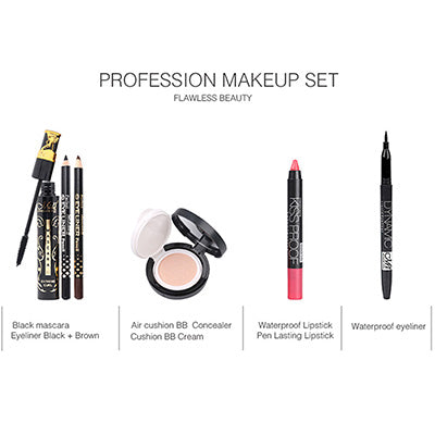 Cosmetic Set Eye Shadow Lipstick Eyeliner BB Cream Concealer Women Makeup Tool