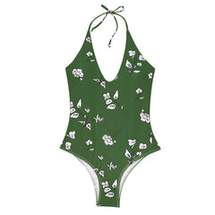 Floral One-Piece Swimsuit (Push-Up)