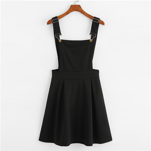 Sleeveless Women Pinafore Dress