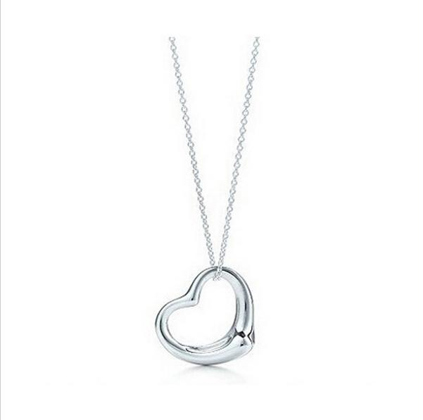 Silver Plated Peach Heart Pendant