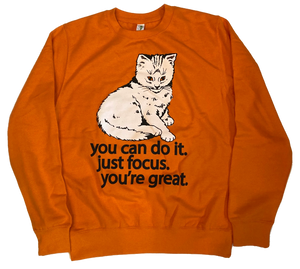 Focus Cat Sweatshirt - Orange Crush