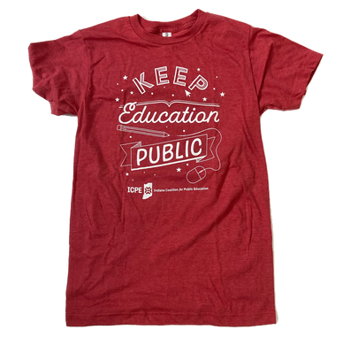 Keep Education Public Shirt - Stars - Indiana Coalition for Public Education Fundraiser