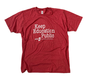 Keep Education Public Shirt - Typewriter - Indiana Coalition for Public Education Fundraiser
