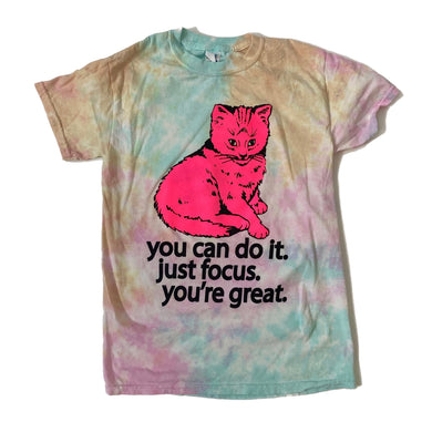 Focus Cat T-shirt - Snow Cone