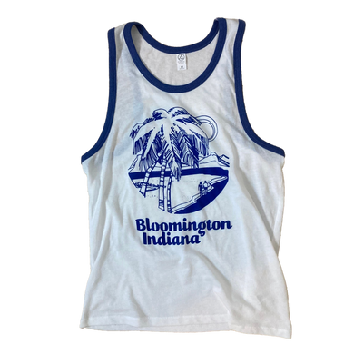 Bloomington Indiana Beach Ringer Tank Top