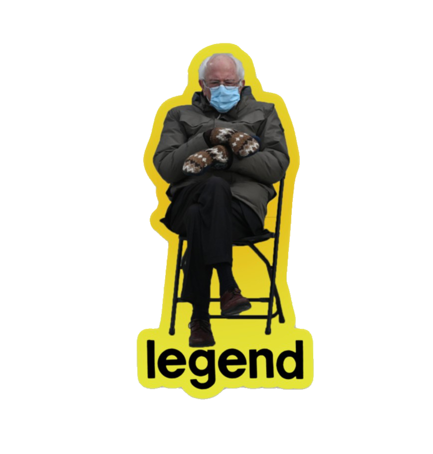 Bernie on a Chair - Legend Magnet
