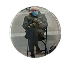 Bernie on a Chair button / magnet