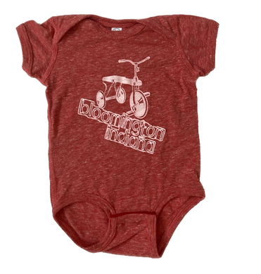 Bloomington Indiana Bicycle Tricycle Onesie