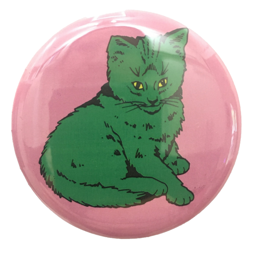 Green Focus Cat button