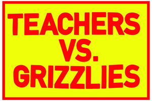 teachers vs. grizzlies sticker - badkneesTs | badkneesTs