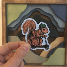Squirrel on a Bird Sticker | badkneesTs
