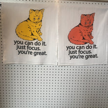 Focus cat kitchen towel