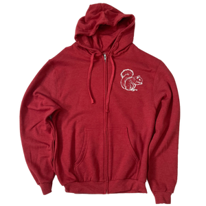 Bloomington Indiana Squirrel Fleece Hoodie