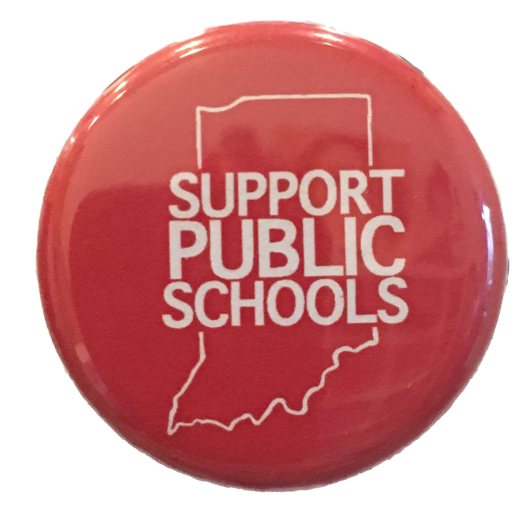 Support Public Schools Button Indiana