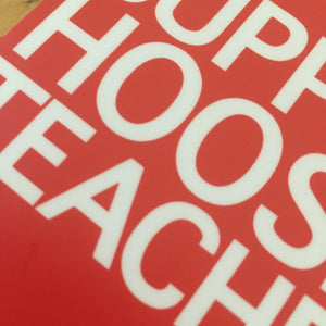 Support Hoosier Teachers sticker Indiana RedForEd - badkneesTs | badkneesTs