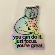 Focus Cat Holographic Sticker