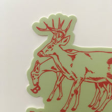 Bloomington Indiana Deer Sticker | badkneesTs
