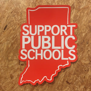 Indiana Red For Ed window cling - Support Public Schools | badkneesTs