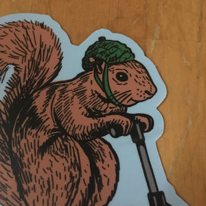 squirrel on a bird BLOOMINGTON sticker