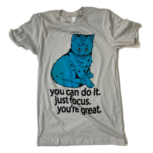 Focus Cat T-shirt - Winter Blue