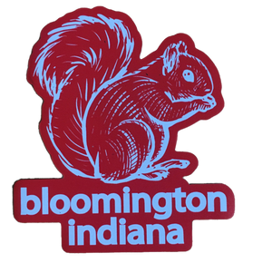 Bloomington Squirrel Magnet