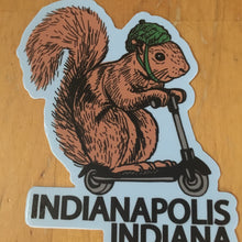 Indianapolis squirrel on a bird sticker - badkneesTs | badkneesTs