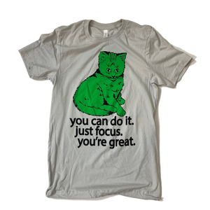 Focus Cat T-shirt - Green Cat