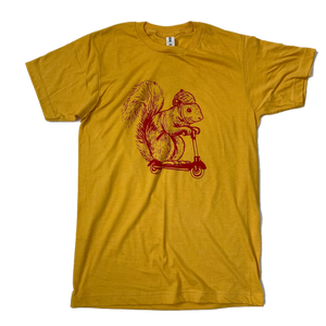 Squirrel on a Bird T-shirt - Ketchup and Mustard