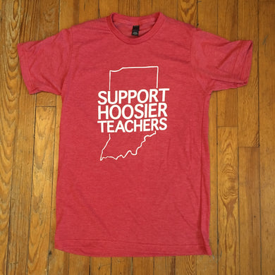 support Hoosier teachers shirt