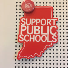 Indiana Red For Ed button  - Support Public Schools | badkneesTs